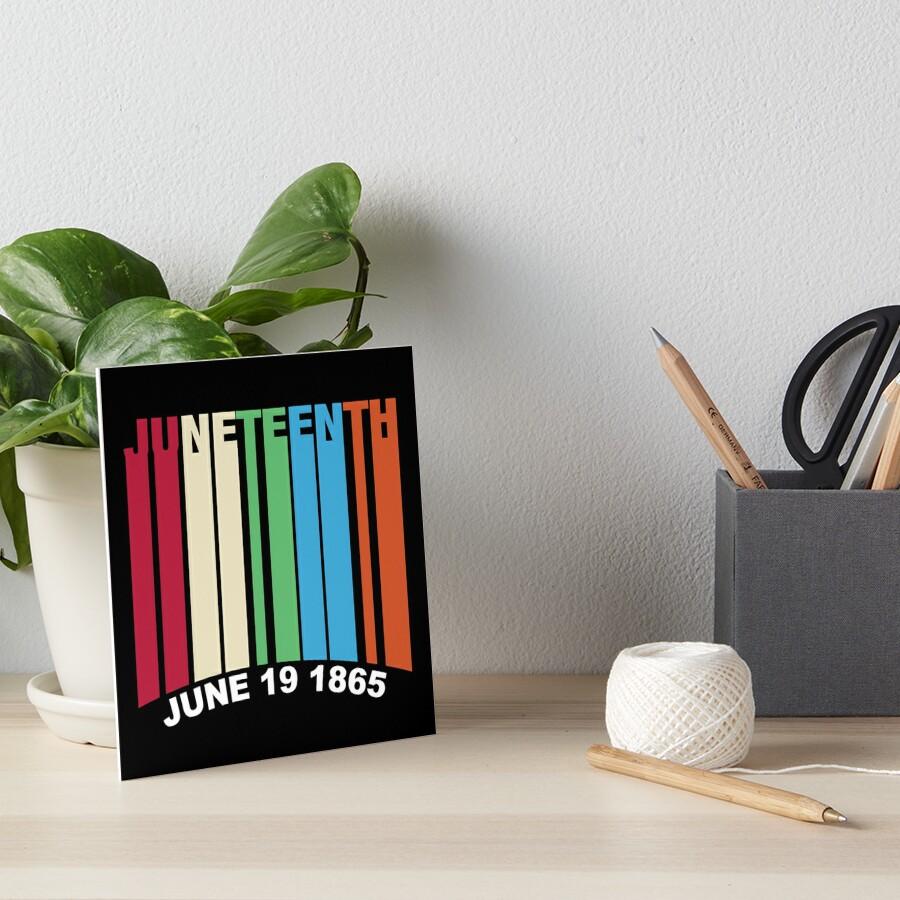 Juneteenth Retro Style Art Board Print