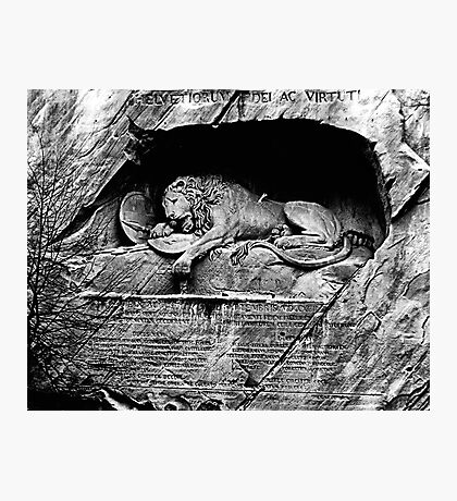 The Lion of Lucerne Photographic Print