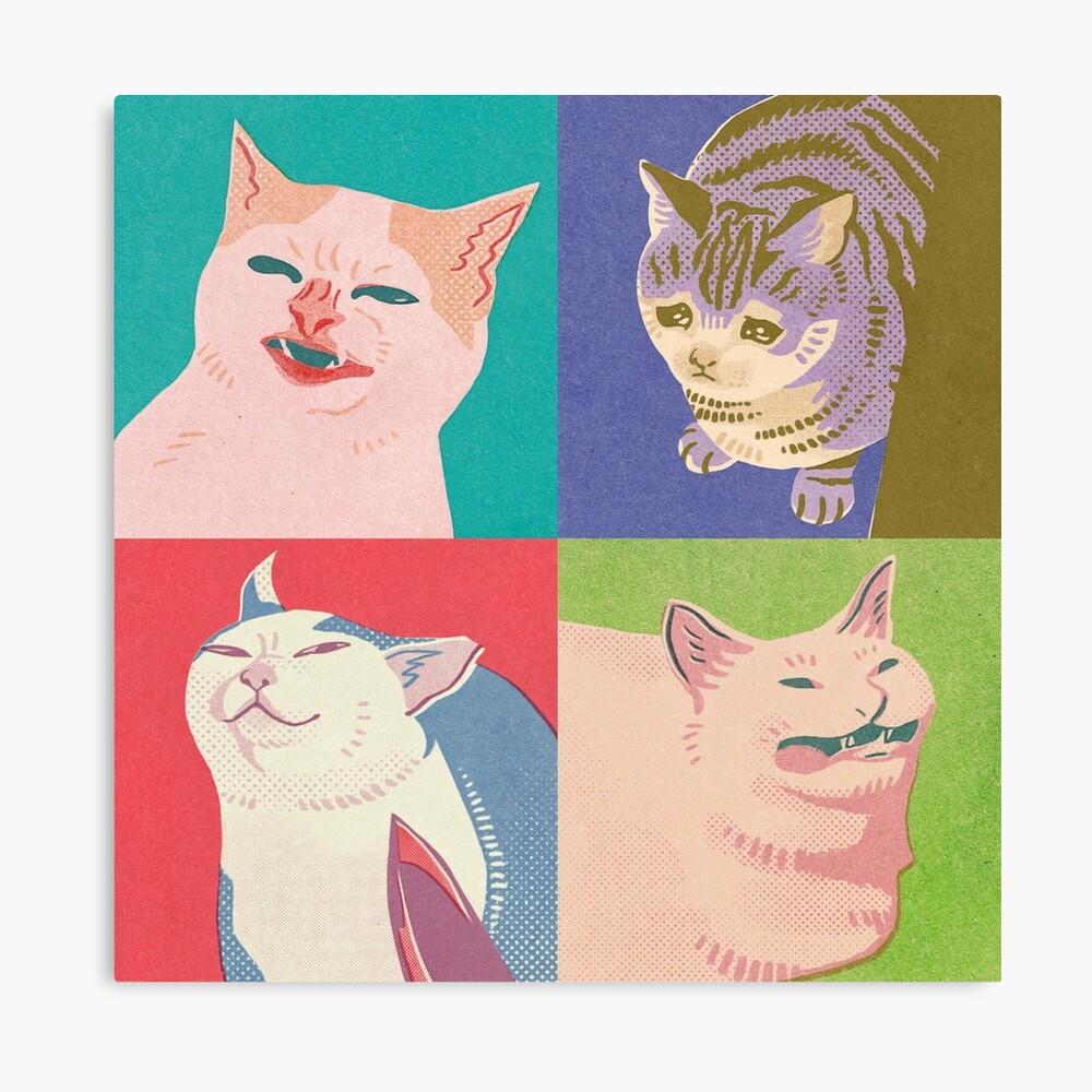 Four Meme Cats of the Apocalypse Canvas Print