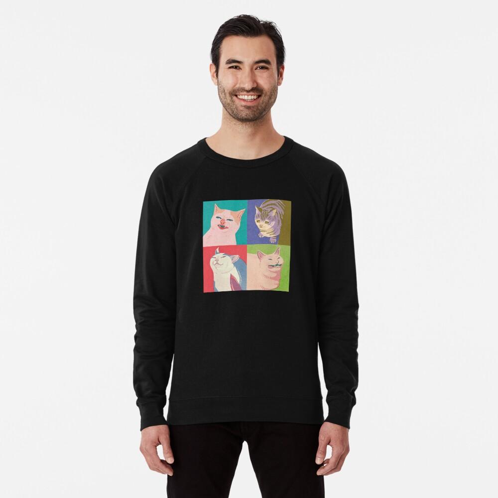 Four Meme Cats of the Apocalypse Lightweight Sweatshirt