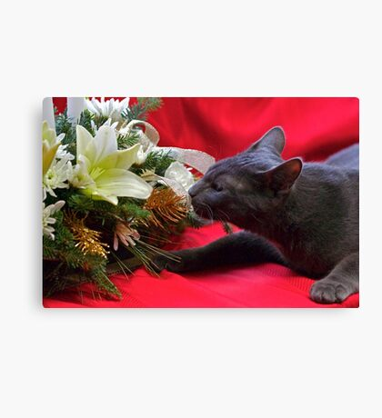 Spot's First Bouquet Canvas Print