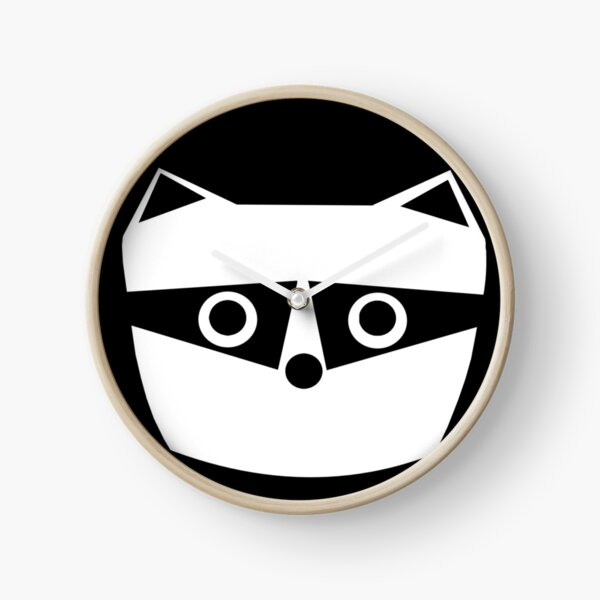 Troublesome Raccoon Clock