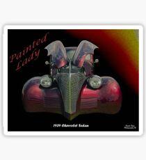 Painted Lady - 1939 Chevrolet Sedan Sticker