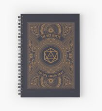 Steampunk Dice Giveth and Taketh Away Spiral Notebook