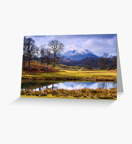 Wetherlam from The Brathay - The Lake District Greeting Card