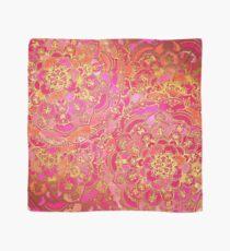 Pink und Gold Barock Blumenmuster Tuch