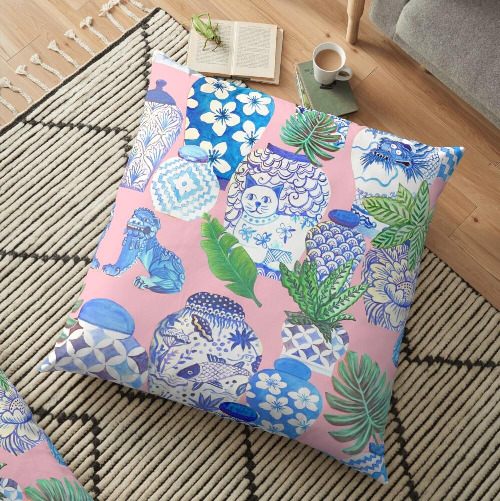 chinese ginger jars Floor Pillow
