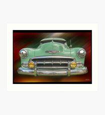 Child of the 50's - 1952 Chevrolet Deluxe Art Print