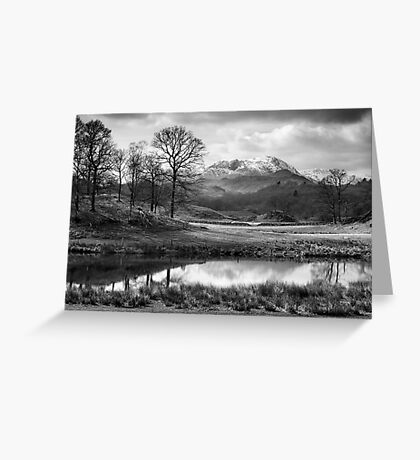Wetherlam and the River Brathay. Greeting Card