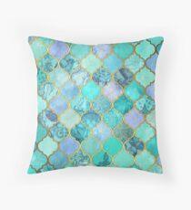 Cojín Patrón de mosaico marroquí fresco de Jade & Icy Mint decorativo