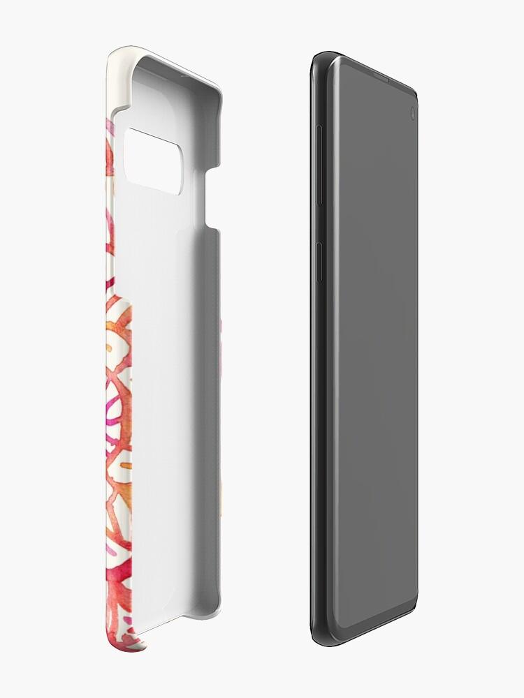 Alternative Ansicht von Aquarell Medaillon in den Farben des Sonnenuntergangs Hülle & Klebefolie für Samsung Galaxy