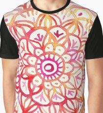 Watercolor Medallion in Sunset Colors Graphic T-Shirt