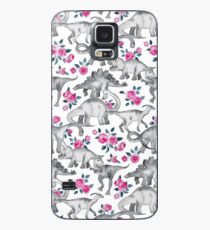 Dinosaurs and Roses – white Case/Skin for Samsung Galaxy