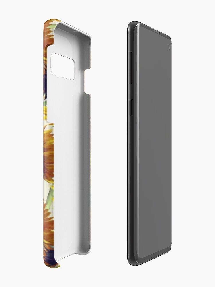 Vista alternativa de Funda y vinilo para Samsung Galaxy Girasoles para siempre