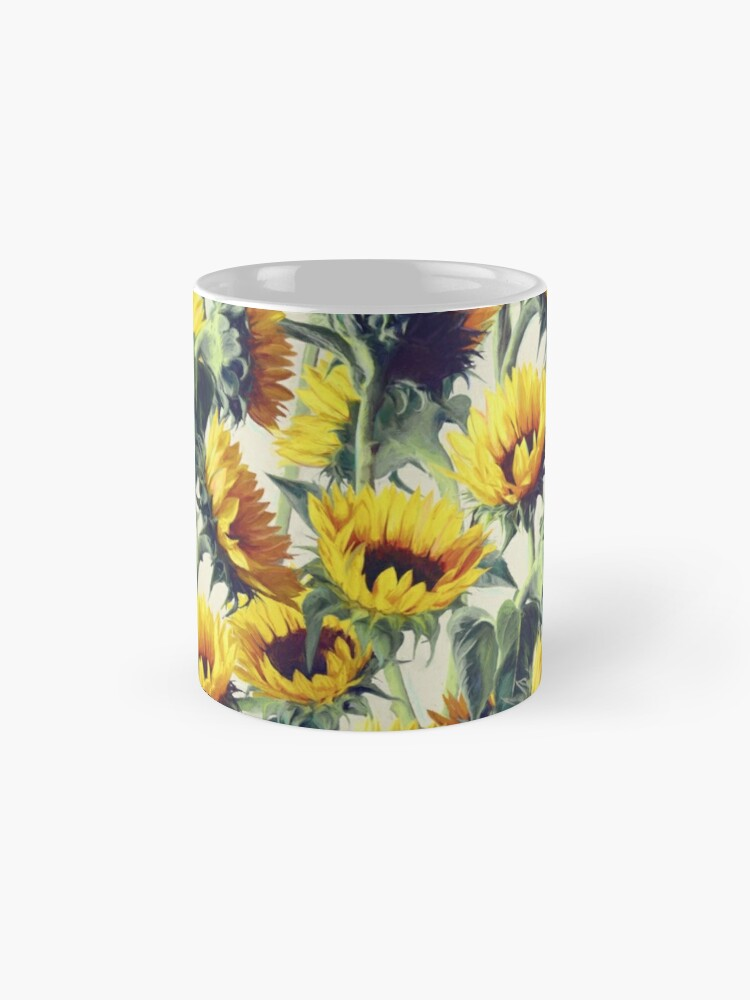 Alternative Ansicht von Sonnenblumen für immer Tasse