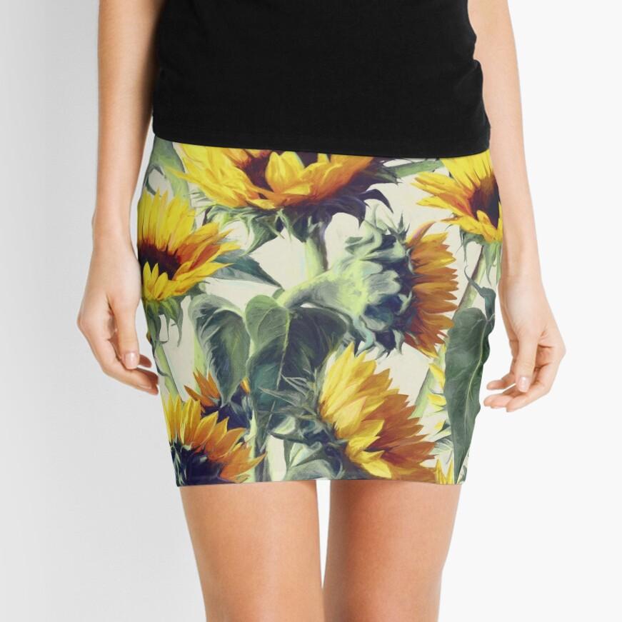 Sunflowers Forever Mini Skirt