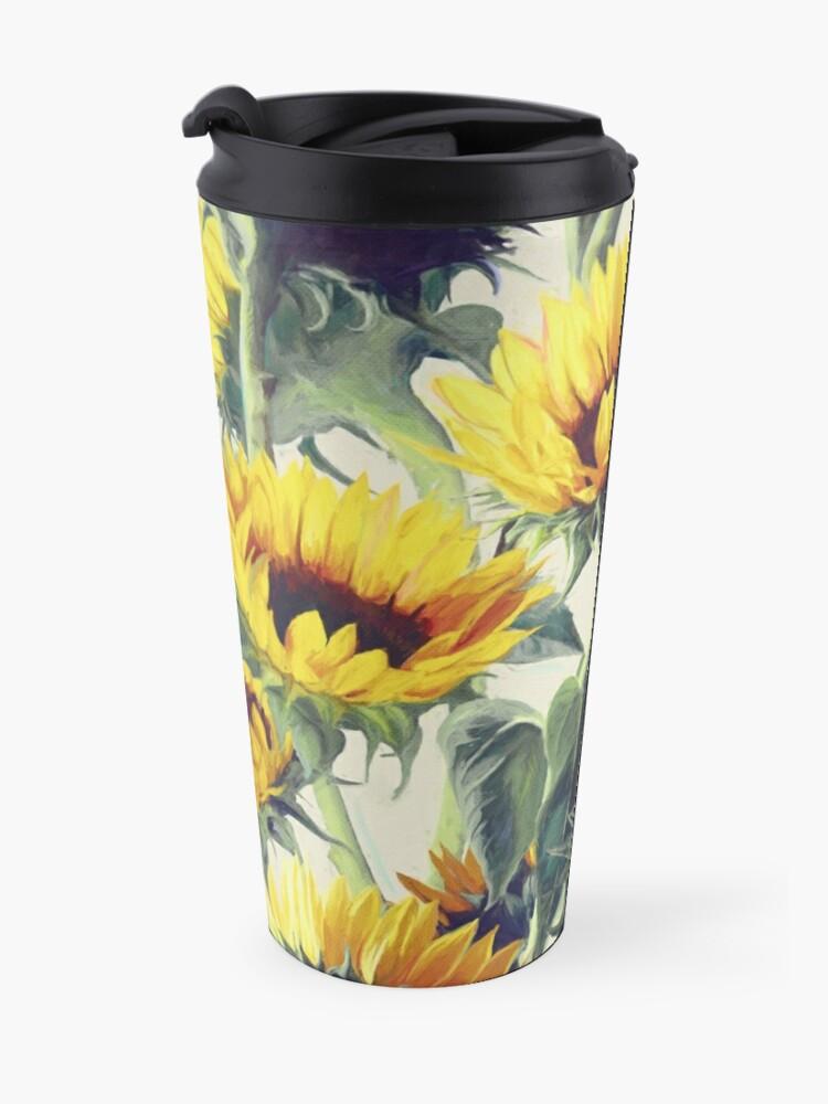Alternate view of Sunflowers Forever Travel Mug