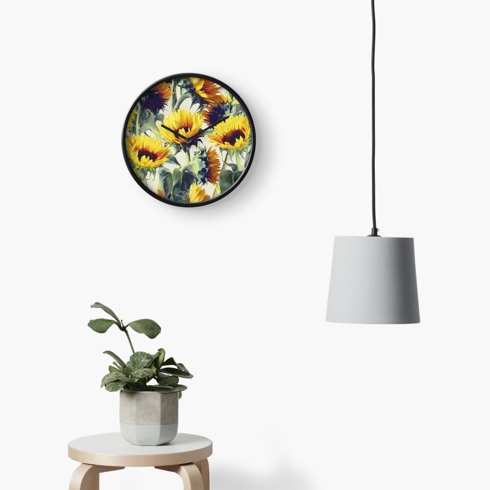 Sonnenblumen für immer Uhr