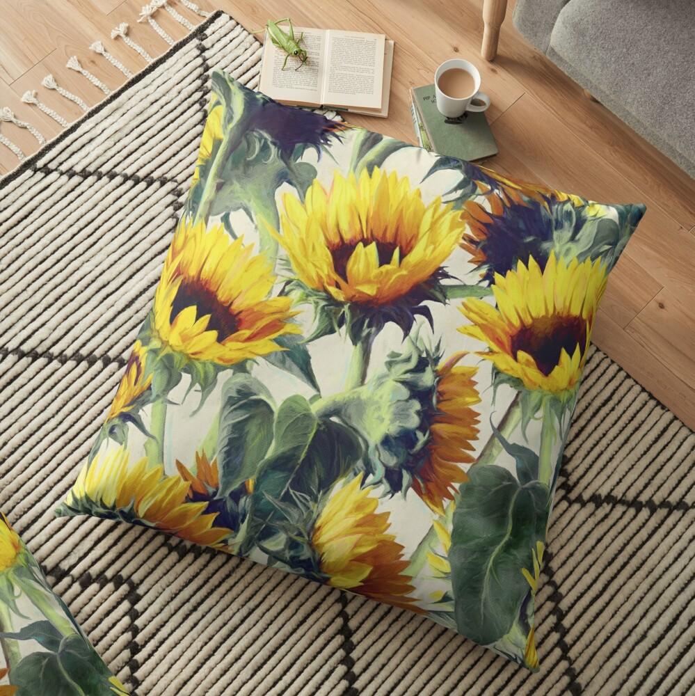 Sonnenblumen für immer Bodenkissen