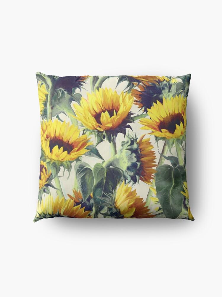 Alternative Ansicht von Sonnenblumen für immer Bodenkissen