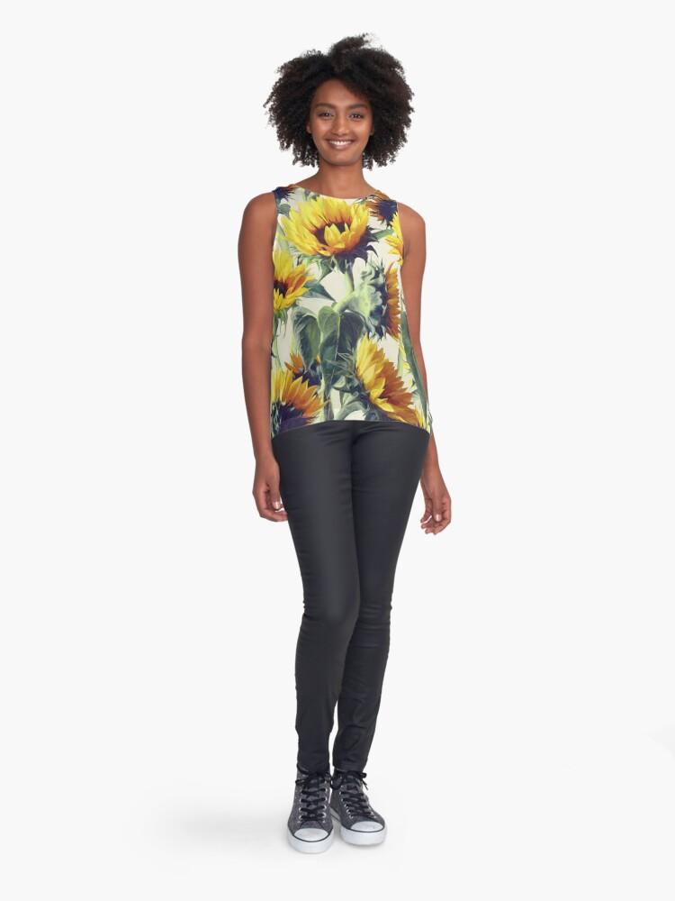 Alternate view of Sunflowers Forever Sleeveless Top