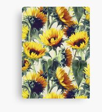 Sunflowers Forever Canvas Print