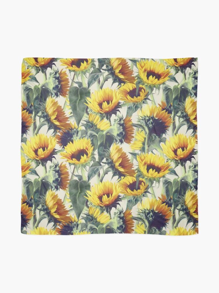Alternative Ansicht von Sonnenblumen für immer Tuch