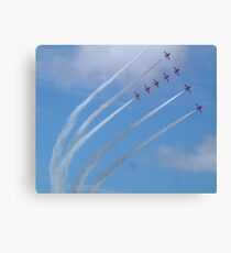 Red Arrows display Canvas Print