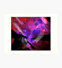 Asteroid Showers over Bow Fiddle Rock Art Print