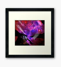 Asteroid Showers over Bow Fiddle Rock Framed Print
