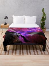 Asteroid Showers over Bow Fiddle Rock Throw Blanket