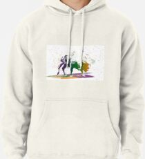 Bison in a colour storm Pullover Hoodie