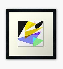 Contemporary Geometric Triangles 3 Framed Print