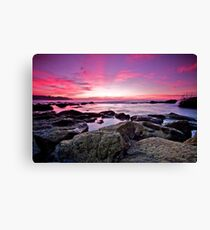 Autumn Sunrise at Bronte Beach, Sydney Canvas Print