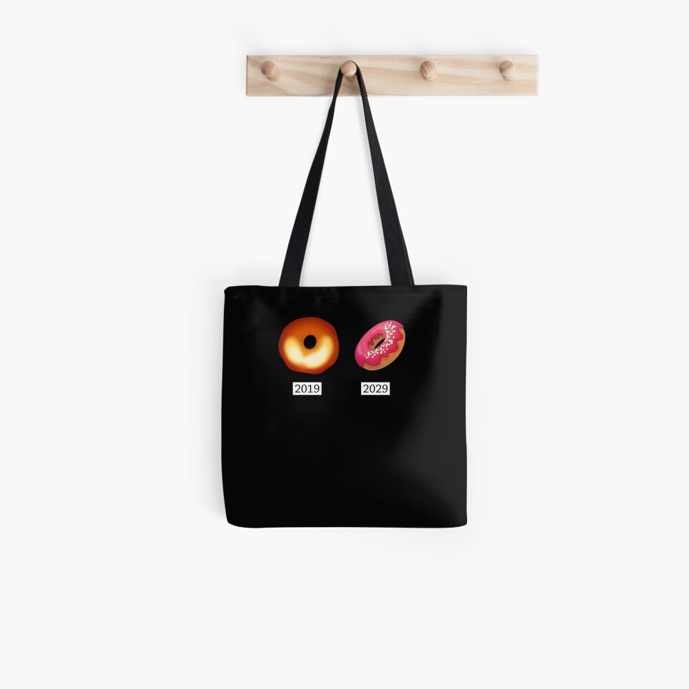 Donut and Black Hole funny science Tote Bag