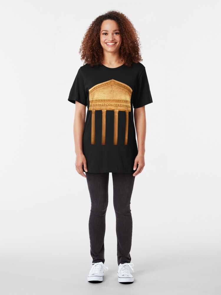 Alternate view of Pantheon, Rome Slim Fit T-Shirt