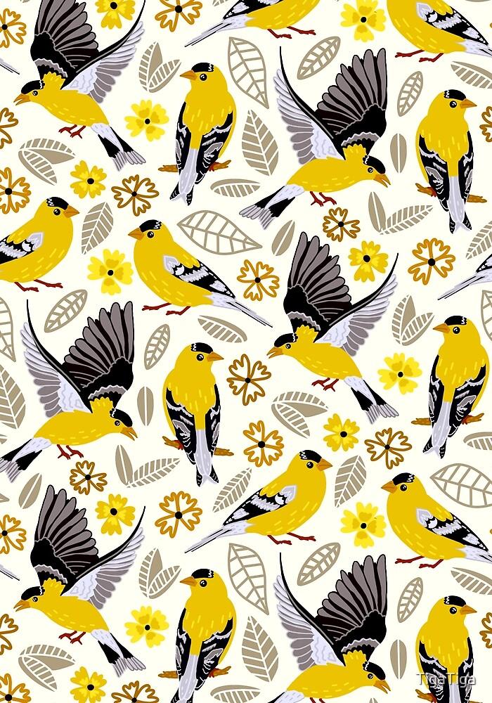 Goldfinches  by TigaTiga