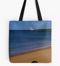 Montrose Beach And Scurdyness Lighthouse. Tote Bag