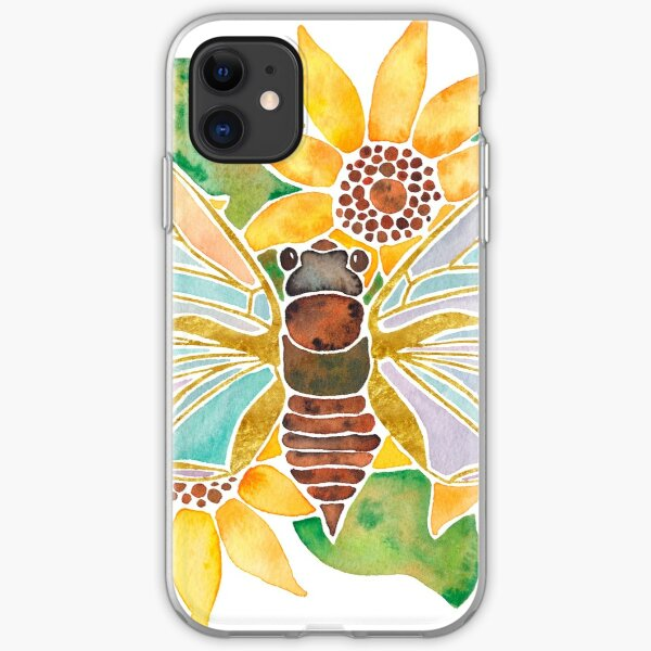 Cicada on Sunflowers iPhone Soft Case