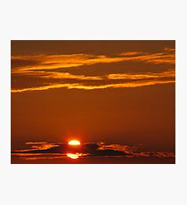 Double Sun, Double Red Photographic Print