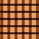 Chocolate Brown Jagged Edge Plaid by WRosesPatterns