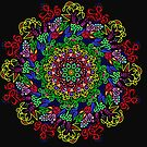 berries and roses mandala by tqueen