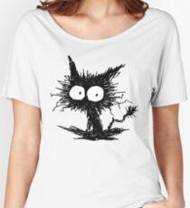 Black Unkempt Kitten GabiGabi Women's Relaxed Fit T-Shirt