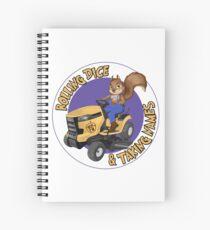 RDTN Squirrel on a Lawn Mower Spiral Notebook