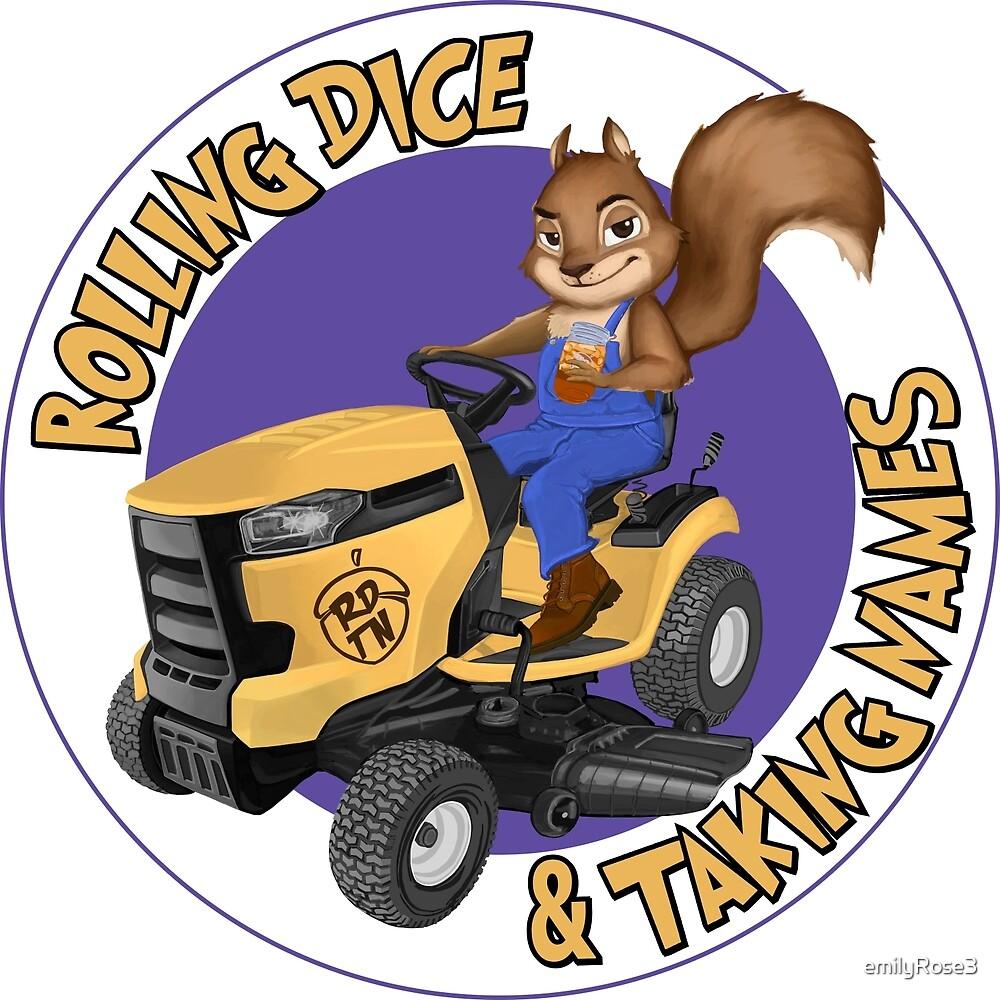 RDTN Squirrel on a Lawn Mower by emilyRose3