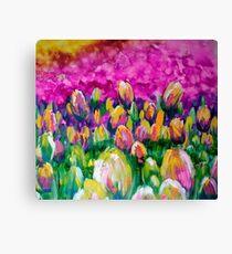 Tulpen. Leinwanddruck
