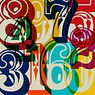 Colour Numbers THREE by BigFatArts