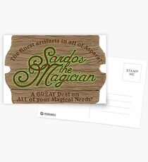 Sardos the Magician Postcards