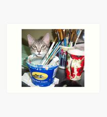 Mimi, the Painter.... Assistant  Art Print