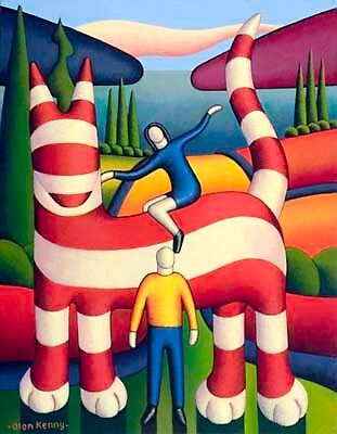 Genetic cat with lovers by Alan Kenny